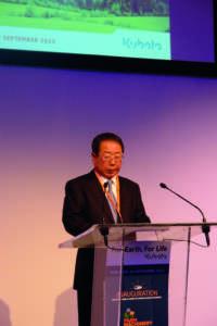 Masatoshi Kimata, presidente di Kubota corporation.