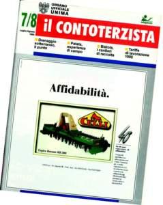"""1993, nasce """"Il Contoterzista"""", edita da Edagricole e, dal 1995, a destra, diventerà organo ufficiale Unima."""