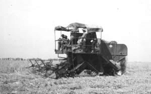 Fine anni '40: l'imponibile di manodopera spinse all'adozione delle mietitrebbiatrici semoventi, ancora oggi considerate la bandiera del contoterzismo.