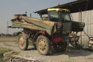 La semovente Grim è il più vecchio mezzo attualmente nella disponibilità dell'azienda Schiavetta.