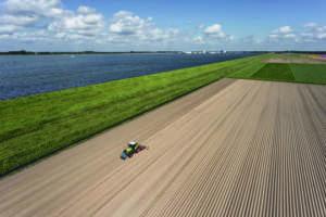 Una zona agricola di polder ricavati sul mare.