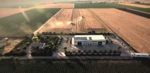 Veduta aerea del centro aziendale.
