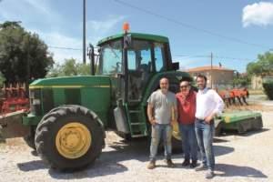 Da sinistra Gregorio Stefanucci, Franco Menghini (co-titolare della concessionaria toscana Menghini Tires) ed Emiliano Bertolini.