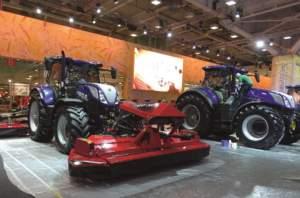 Le prime attrezzature Kongskilde nello stand New Holland all'Eima di Bologna di quest'anno.