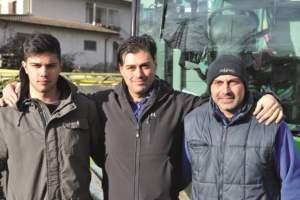 Da destra, Massimo Cottini, Maurizio e suo figlio Matteo.
