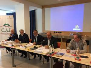Da sinistra: Sandro Cappellini, Leonardo Bolis, Gianni Dalla Bernardina, Silvano Ramadori e Massimo Alberghini