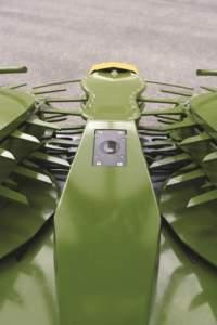 Dettaglio del sistema Auto Scan, telecamera installata sulla barra di taglio.